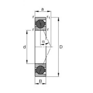 10 mm x 30 mm x 9 mm  FAG HCB7200-E-T-P4S roulements à billes à contact oblique