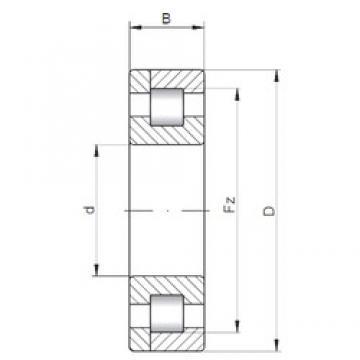 300 mm x 540 mm x 85 mm  ISO NP260 roulements à rouleaux cylindriques