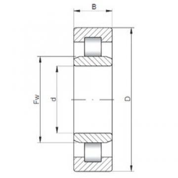 180 mm x 280 mm x 74 mm  ISO NU3036 roulements à rouleaux cylindriques