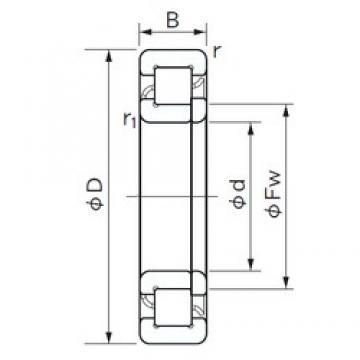 150 mm x 320 mm x 108 mm  NACHI NUP 2330 roulements à rouleaux cylindriques