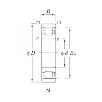 240 mm x 440 mm x 72 mm  KOYO N248 roulements à rouleaux cylindriques