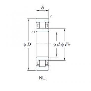 60 mm x 110 mm x 28 mm  KOYO NU2212 roulements à rouleaux cylindriques