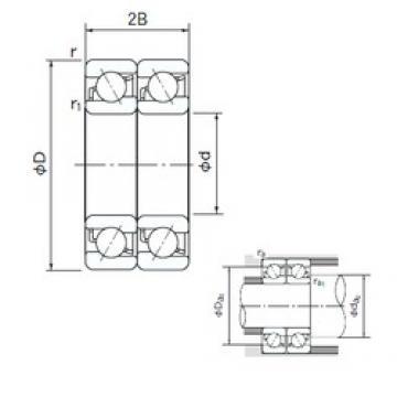 45 mm x 85 mm x 19 mm  NACHI 7209CDT roulements à billes à contact oblique