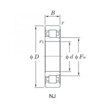 100 mm x 215 mm x 73 mm  KOYO NJ2320R roulements à rouleaux cylindriques