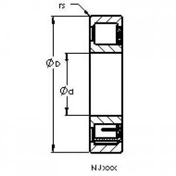 AST NJ2214 E roulements à rouleaux cylindriques