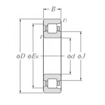 60 mm x 110 mm x 22 mm  NTN NF212 roulements à rouleaux cylindriques