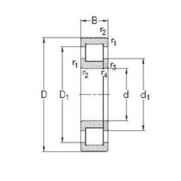 100 mm x 215 mm x 73 mm  NKE NUP2320-E-MA6 roulements à rouleaux cylindriques