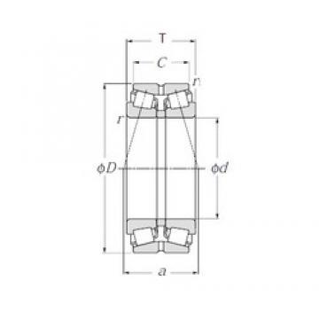 NTN 4T-430308DX Roulements à rouleaux coniques