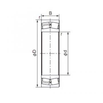 150 mm x 250 mm x 100 mm  NACHI 24130EX1 roulements à rouleaux cylindriques