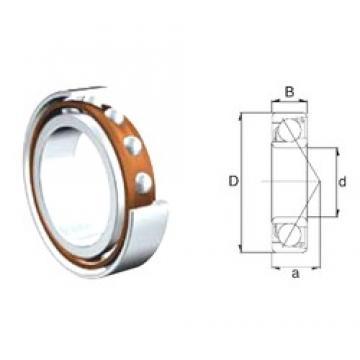 30 mm x 72 mm x 19 mm  ZEN 7306B-2RS roulements à billes à contact oblique