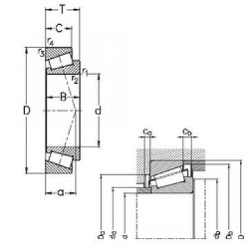 45 mm x 95 mm x 26,5 mm  NKE T7FC045 Roulements à rouleaux coniques