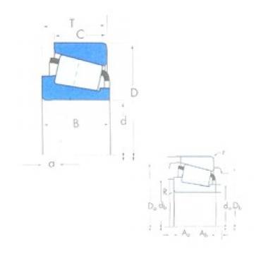 95 mm x 145 mm x 32 mm  Timken X32019X/Y32019X Roulements à rouleaux coniques