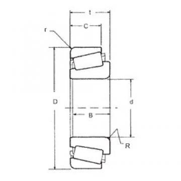 82,55 mm x 161,925 mm x 55,1 mm  FBJ 6559C/6535 Roulements à rouleaux coniques