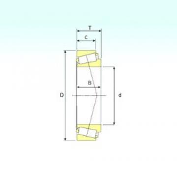 57,15 mm x 96,838 mm x 21,946 mm  ISB 387A/382A Roulements à rouleaux coniques