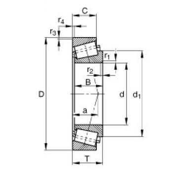 34,988 mm x 59,974 mm x 16,764 mm  FAG KL68149-L68111 Roulements à rouleaux coniques