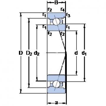 40 mm x 62 mm x 12 mm  SKF 71908 CB/HCP4A roulements à billes à contact oblique