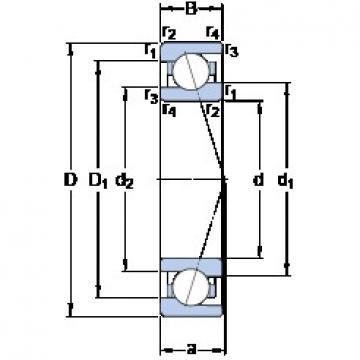 90 mm x 125 mm x 18 mm  SKF 71918 ACE/P4A roulements à billes à contact oblique