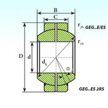280 mm x 430 mm x 210 mm  ISB GEG 280 ES 2RS paliers lisses