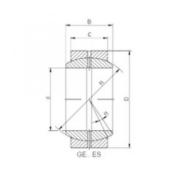 120 mm x 180 mm x 85 mm  ISO GE 120 ES paliers lisses