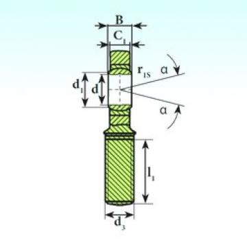 10 mm x 19 mm x 9 mm  ISB SA 10 C paliers lisses