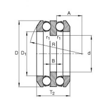 95 mm x 190 mm x 24 mm  FAG 54322-MP butées à billes