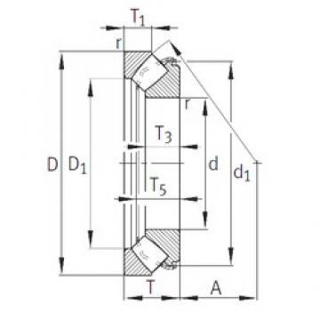 INA 29416-E1 roulements à rouleaux de poussée