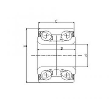 45 mm x 84 mm x 42 mm  ILJIN IJ141004 roulements à billes à contact oblique