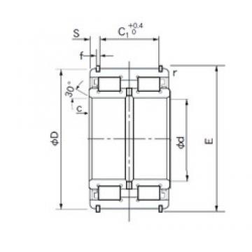 170 mm x 260 mm x 122 mm  NACHI E5034NR roulements à rouleaux cylindriques