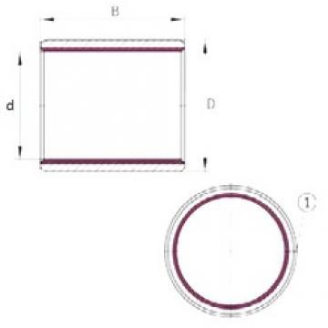 3 mm x 4,5 mm x 3 mm  INA EGB0303-E40 paliers lisses