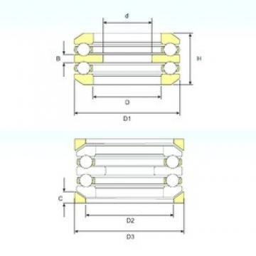 45 mm x 90 mm x 10 mm  ISB 54211 U 211 butées à billes