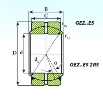 107,95 mm x 168,28 mm x 94,46 mm  ISB GEZ 107 ES paliers lisses