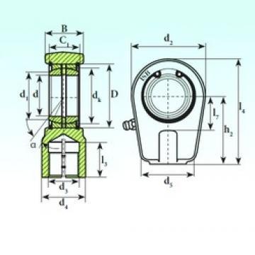 35 mm x 55 mm x 30 mm  ISB TAPR 435 N paliers lisses