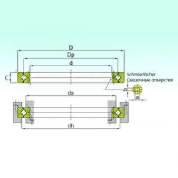 300 mm x 405 mm x 40 mm  ISB RE 30040 roulements à rouleaux de poussée