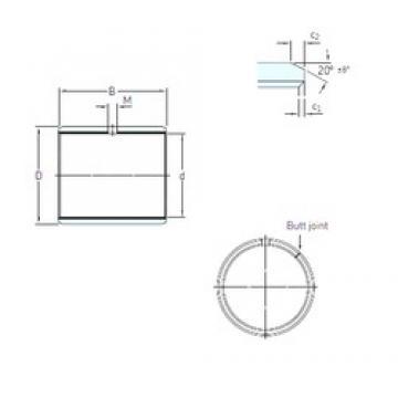 14 mm x 16 mm x 10 mm  SKF PCM 141610 E paliers lisses