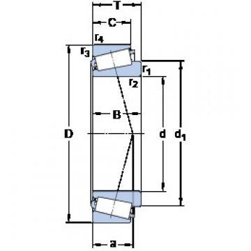 70 mm x 125 mm x 41 mm  SKF 33214/Q Roulements à rouleaux coniques