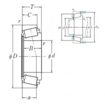 127 mm x 295,275 mm x 87,312 mm  NSK HH231637/HH231615 roulements à rouleaux cylindriques