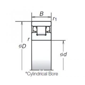 55 mm x 90 mm x 18 mm  NSK N1011RSZTP roulements à rouleaux cylindriques