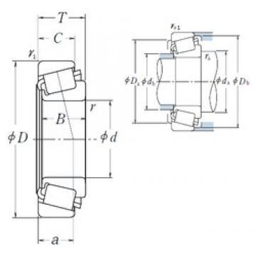 109,987 mm x 159,987 mm x 34,925 mm  NSK LM522548/LM522510 Roulements à rouleaux coniques