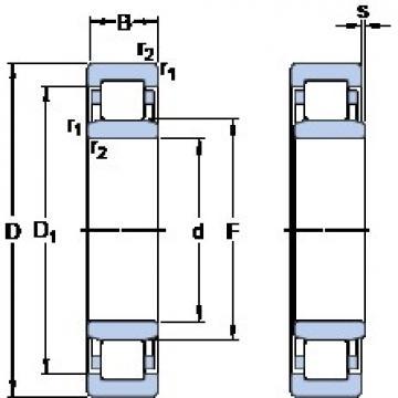 460 mm x 680 mm x 128 mm  SKF NU 2092 ECMA butées à billes