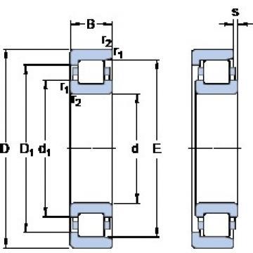 1000 mm x 1220 mm x 128 mm  SKF NF 28/1000 ECMP/HA1 butées à billes